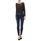 7 For All Mankind High waisted Skinny slim illusion jeans Indigo  | SHEEN UNCOVERED