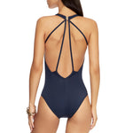 Jets Plunge One Piece Back View J10170 | SHEEN UNCOVERED, Ink