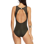 Jets High Neck One Piece Swimsuit | SHEEN UNCOVERED, Khaki