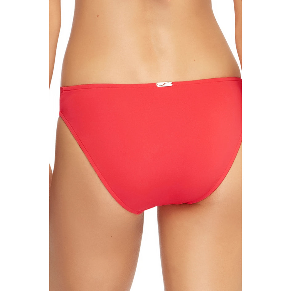Jets Wrap Front Bikini Bottom BACK J3633 | SHEEN UNCOVERED, Flamingo