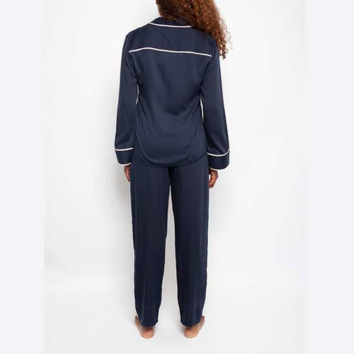 Fable and Eve Plain Navy PJ Set