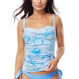 Moontide Babylon Twist Tankini Top M3203BY | SHEEN UNCOVERED, azure blue