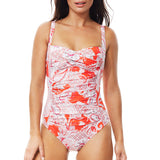 Moontide Babylon Twist Front Suit M4503AM | SHEEN UNCOVERED, cherry tomato