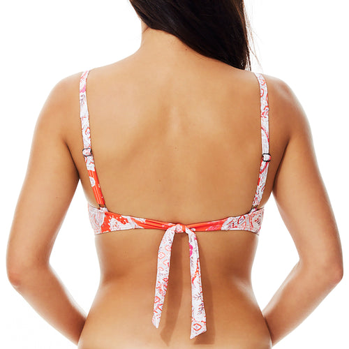 Moontide Babylon DD Twist Bikini Top M6805BY | SHEEN UNCOVERED, cherry tomato