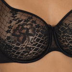 Melody full cup bra, Black