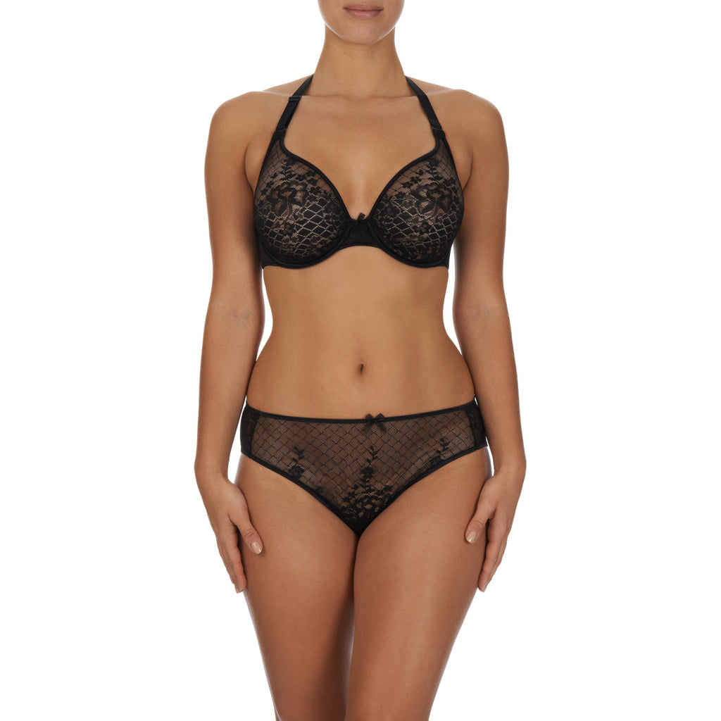 Melody seamfree multi way plunge bra, Black