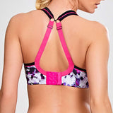 Panache Painterly Print Wired sports bra Cup DD - H Crossback