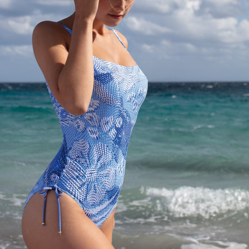 Empreinte Swim Pixel Swimsuit 1921VN | SHEEN UNCOVERED, myosotis blue