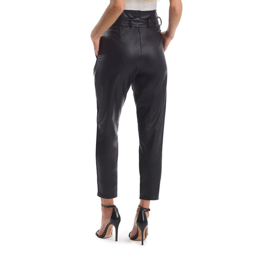 Faux Leather Paperbag Trousers