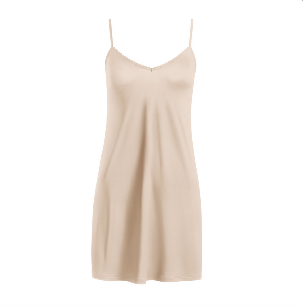 Satin Deluxe Under Slip cut out, Nude