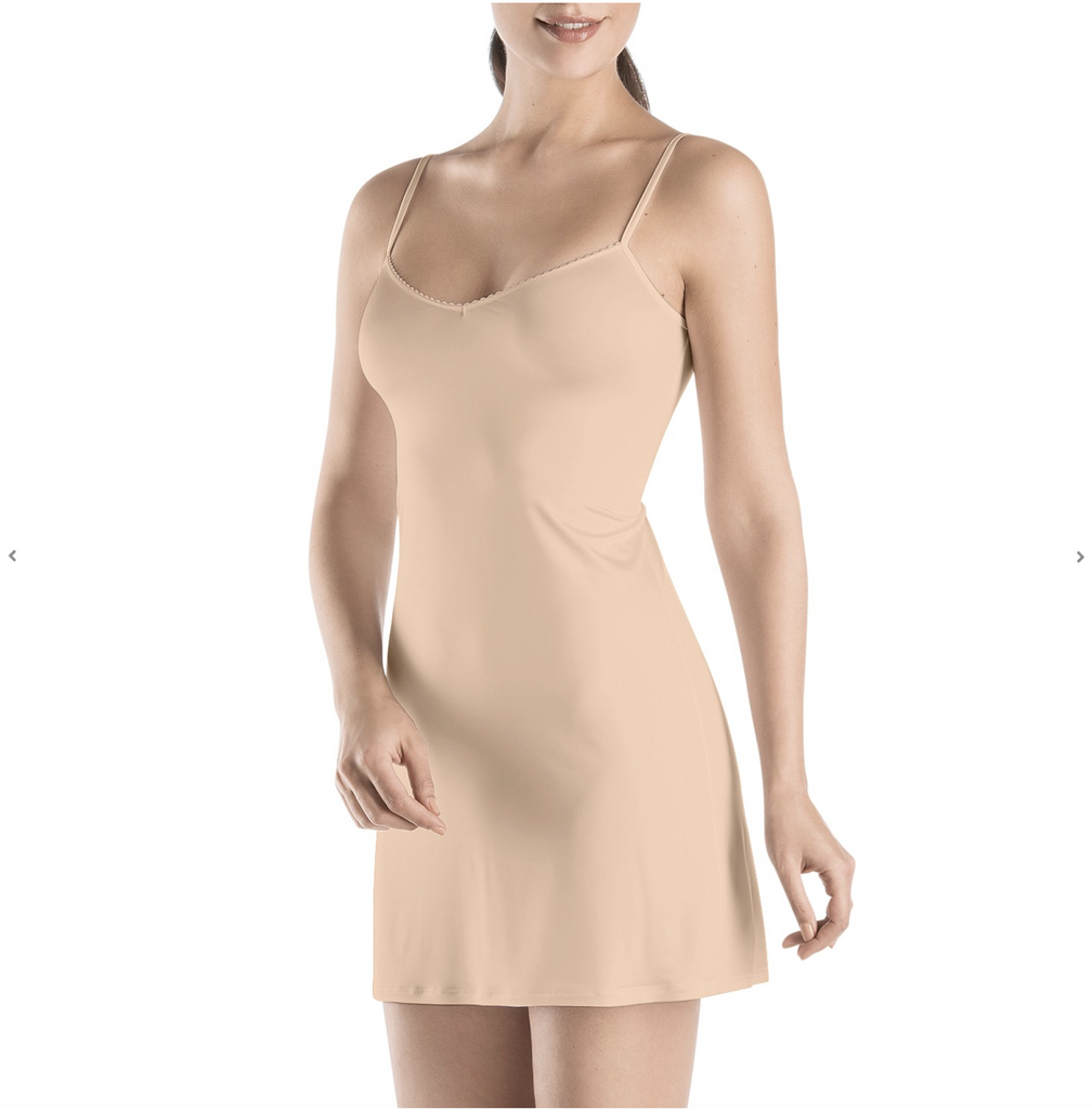 Satin Deluxe Under Slip, Nude