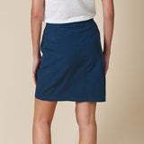 Indi & Cold Piece Dyed Mini Skirt V19.VF208 | SHEEN UNCOVERED, Ink