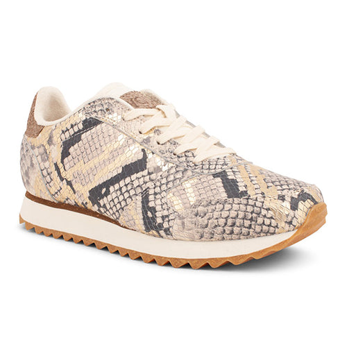 Ydun Leather Snake Trainers
