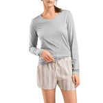 Yoga long sleeve top Grit Melange