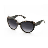 Amara Cateye sunglasses Grey Tortoiseshell angled side view