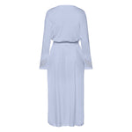 Hanro Aurelia Robe #076515 | SHEEN UNCOVERED, dreamy blue