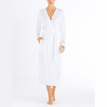 Hanro Aurelia Robe #076515 | SHEEN UNCOVERED, white