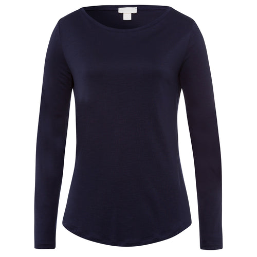 Hanro Balance Long Sleeved Top | SHEEN UNCOVERED, Major Blue