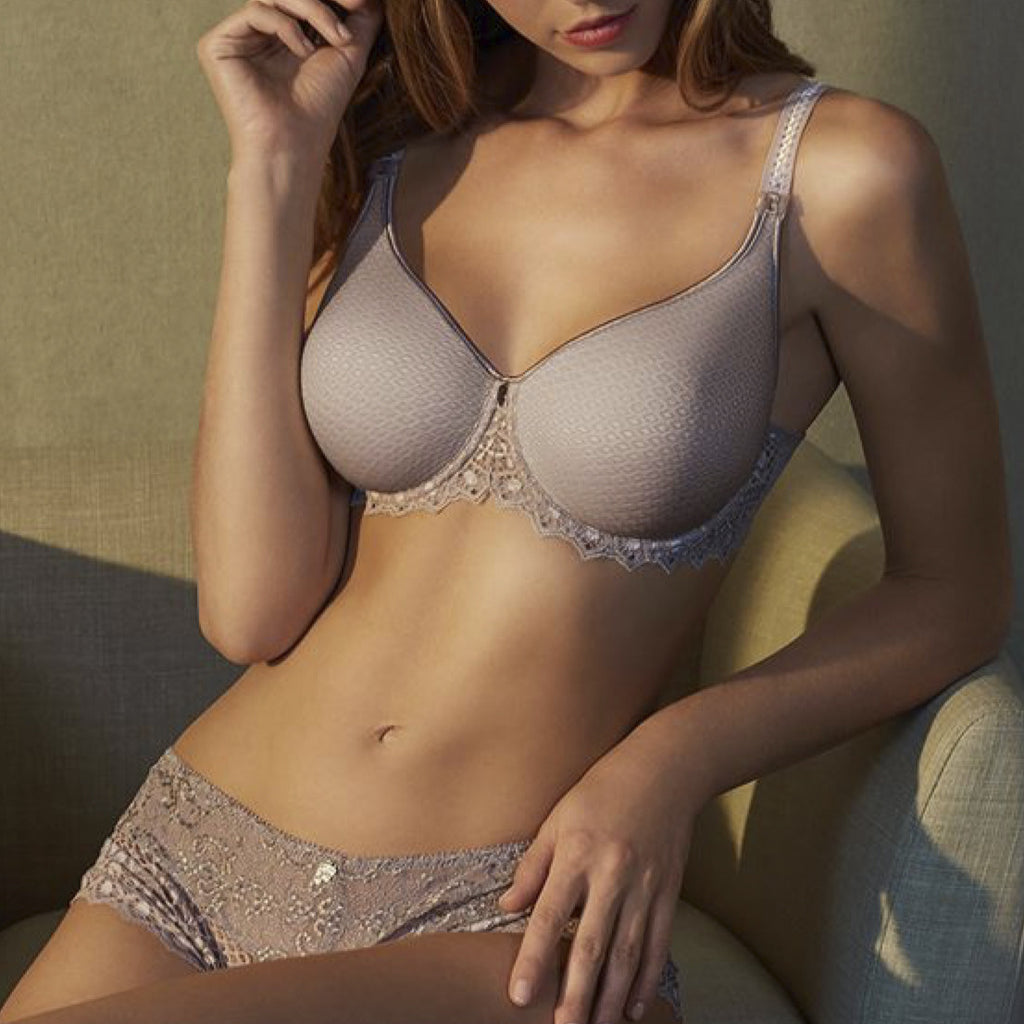 Cassiopée spacer t-shirt bra Cup D - G Rose Sauvage full body