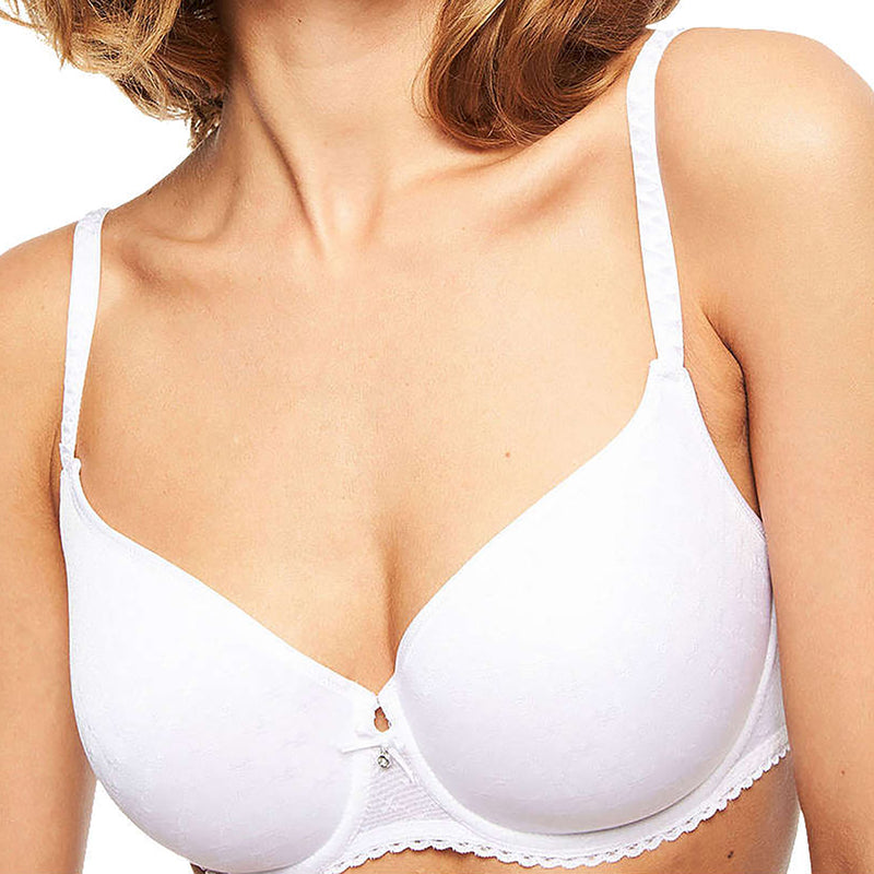 Chantelle Courcelles spacer t shirt bra | SHEEN UNCOVERED, White