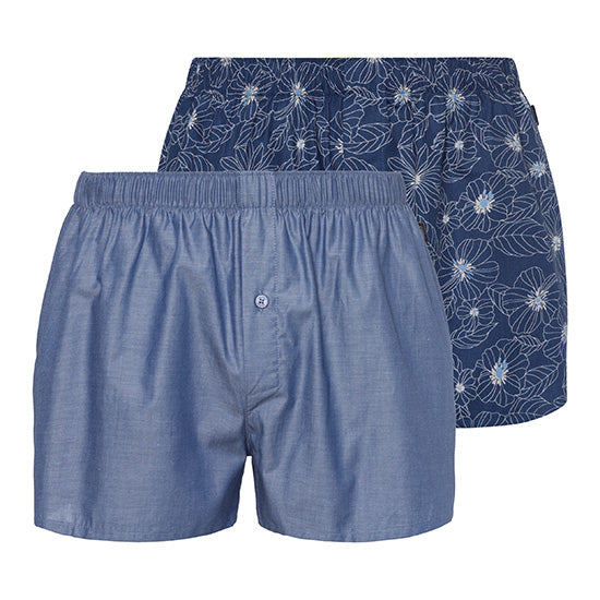 Hanro 2 Pack 'Fancy Woven' Boxer Shorts 074014 | SHEEN UNCOVERED