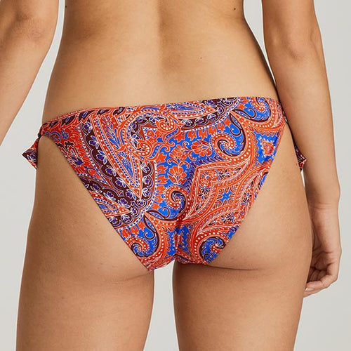 Casablanca Blue Spice Tie Side Bikini Bottom