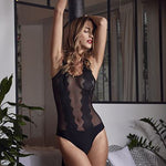Jalousie Sheer Lace Bodysuit