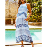 Lula Soul Mani Maxi Dress Blue | SHEEN UNCOVERED
