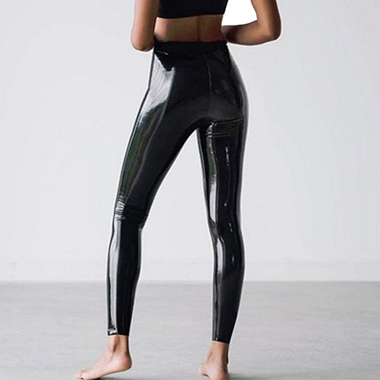 Faux Patent Leather Leggings