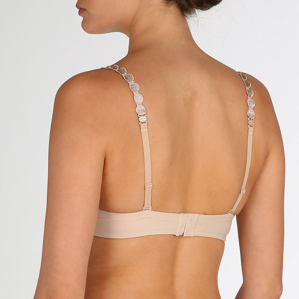 Tom balconette t-shirt bra Cup A - F back view, Nude