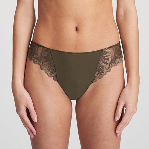 Phoebe Olive Green Thong