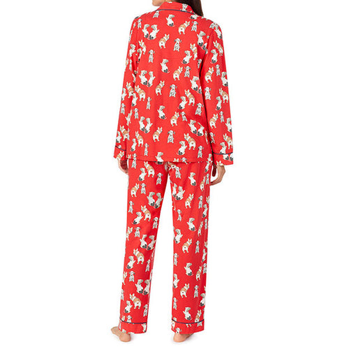 Sweet Hearts Dog Print Red PJ Set