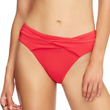 Jets Wrap Front Bikini Bottom J3633 | SHEEN UNCOVERED, Flamingo