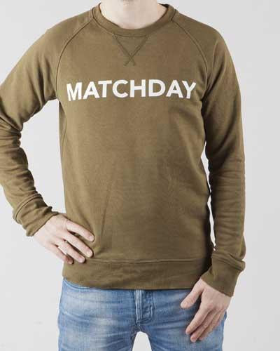 Matchday-sweater-Olive-green-Football-sweater-Duo-Central-Front-1