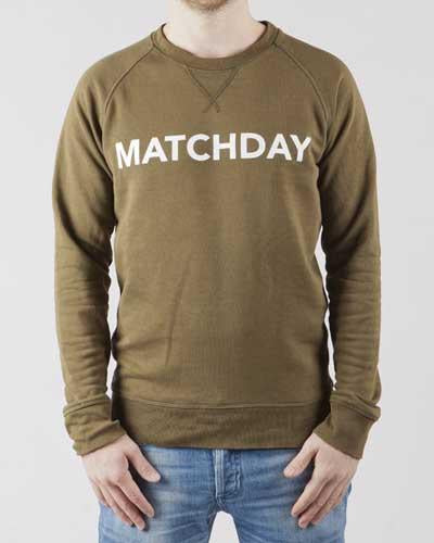Matchday-sweater-Olive-green-Football-sweater-Duo-Central-Front-2
