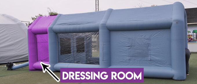 Dressing Room for Inflatable Spray Booth