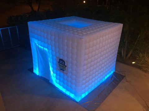 3 Meter Inflatable LED Event Cube - MaxoMil