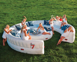 Outdoor 20 Seat Round Inflatable Garden Party Sofa - Max Leisure