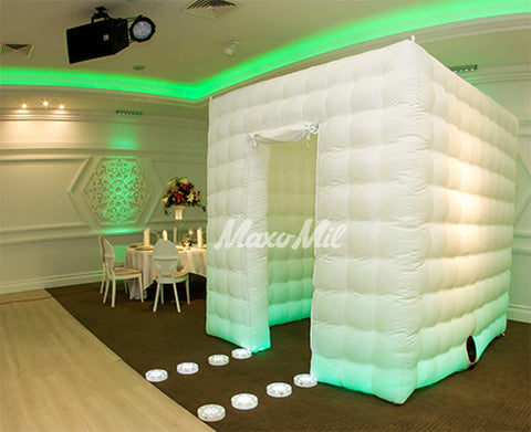 Inflatable LED Photo Booth Cube - MaxoMil