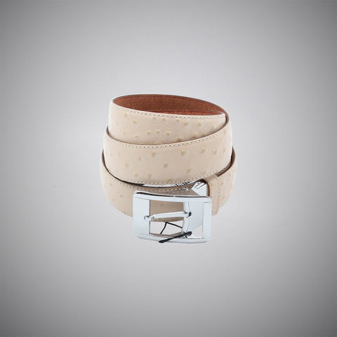 Cream Dots Leather Belt - justwhiteshirts