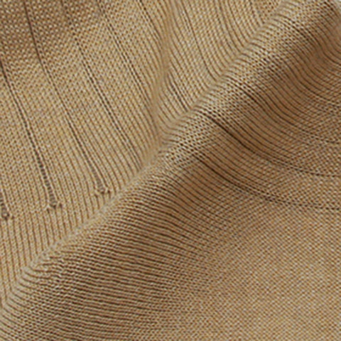 Golden Sand Mid-calf Mercerized Cotton Socks - justwhiteshirts