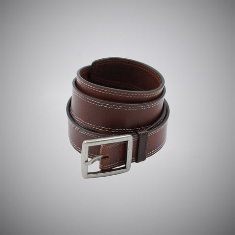 Classic Brown Leather Belt - justwhiteshirts