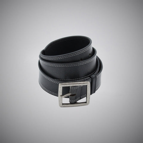 Classic Black Leather Belt - justwhiteshirts