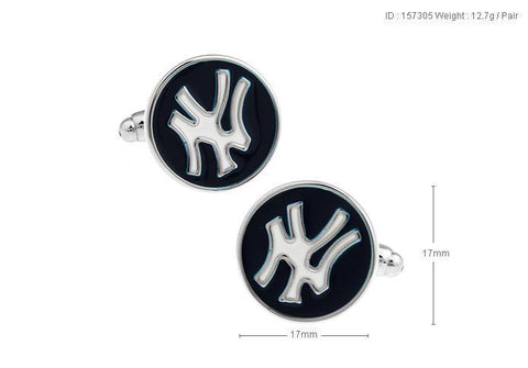 NYK style Cufflink For Men's - justwhiteshirts