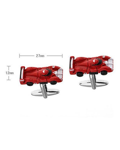 RED SPORTS CAR CUFFLINKS - Just White Shirts