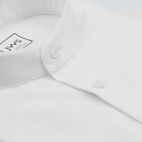 MANDARIN COLLAR FRENCH CUFF, THE ULTIMATE WHITE SHIRT