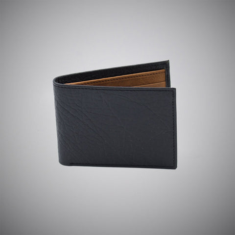 Black Connolly Embossed Calf Leather Wallet With Tan Suede Interior - justwhiteshirts