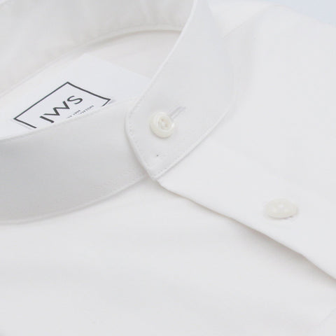 MANDARIN COLLAR BUTTON CUFF, THE ULTIMATE WHITE SHIRT