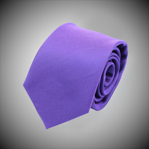 Solid Purple Twill Woven Silk Tie - justwhiteshirts