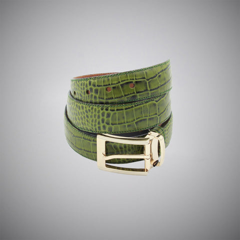 Snake Leather Belt - justwhiteshirts